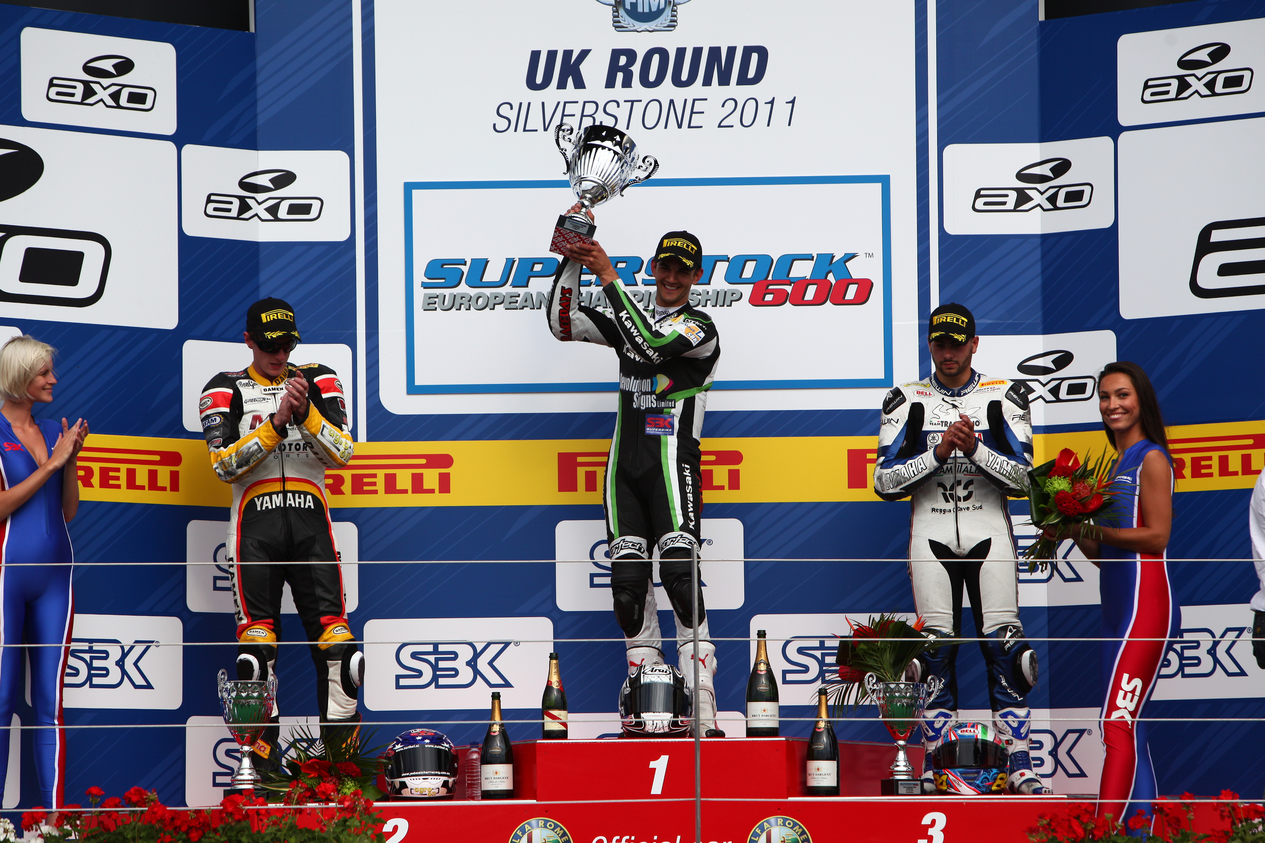Josh Day 2011 Silverstone FIM Superstock 600 Race Winner