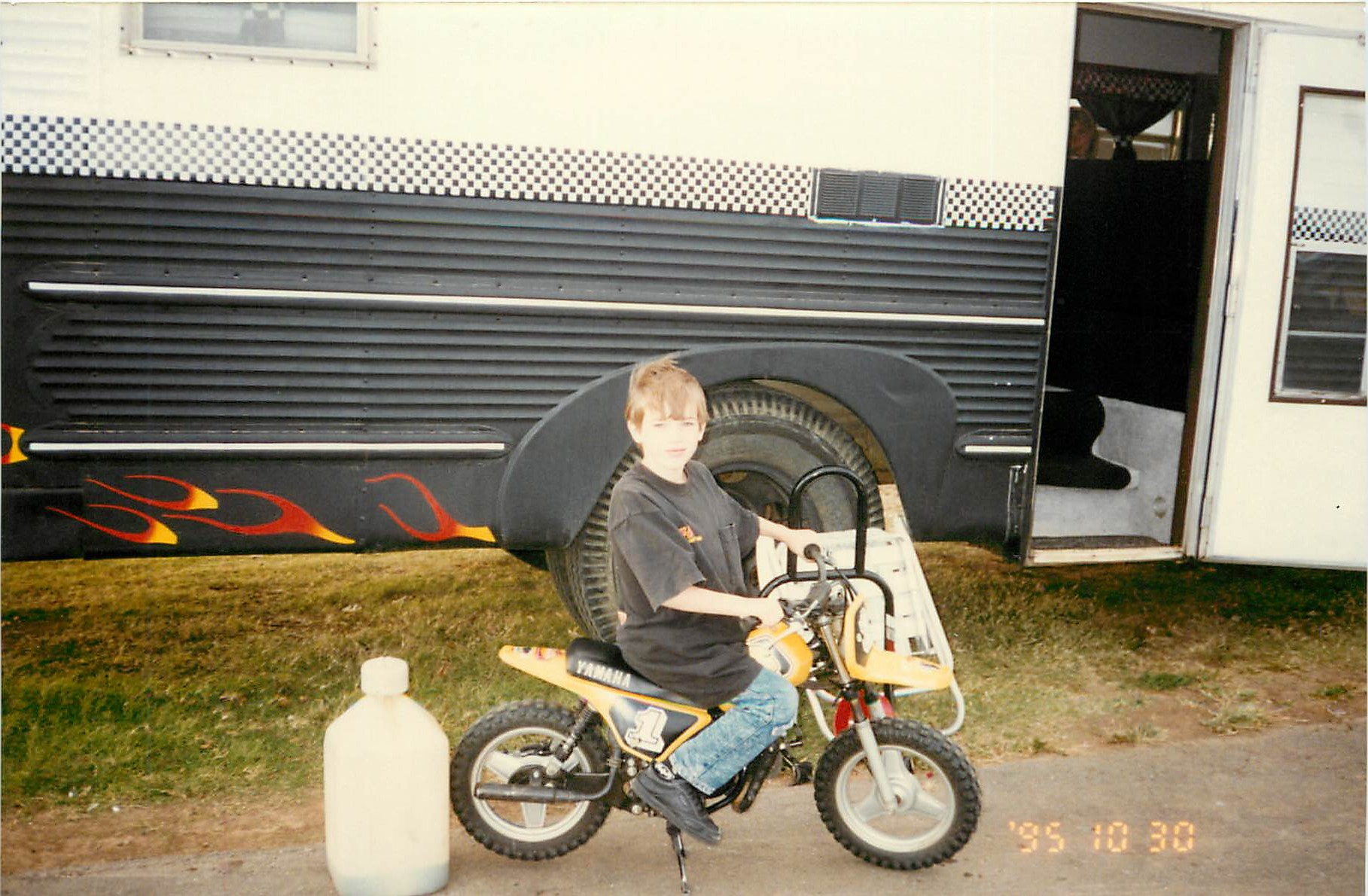 Dane 1995 on motorcycle
