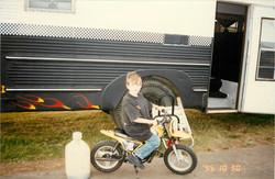 Dane 1995 on motorcycle