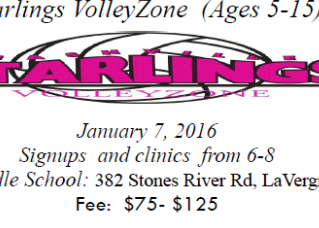STARLINGS VOLLEYBALL SIGN UPS