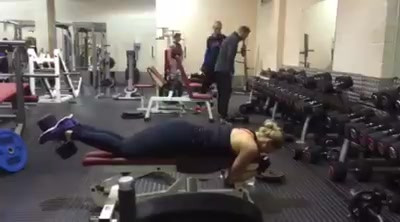 Lisa working out...Glutes and hamstrings