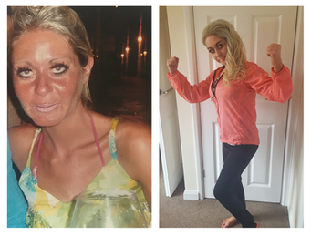 Following years of battling with several eating disorders, anorexic, bulimia and laxative abuse i found myself at an all time low with a body weight of 5st 4lb. I was told that I was unable to have children and then through a miracle fell pregnant with my son George. Having something greater to live for than myself I started the road to recovery. 6 months ago I started to train with Kimberly, she has lifted my confidence and helped me to start to like myself. We have worked on increasing my bone density as through starvation my bones would have become brittle putting me at a high risk on developing osteoporosis. I now have muscle to protect my bones and am loving my girly curves. I know the illness has not left me but I am now in a much better place to start living life. Katy