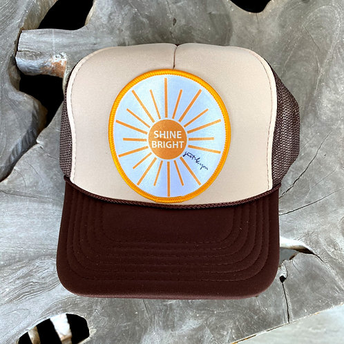 Shine Bright Hat: Tan/Brown