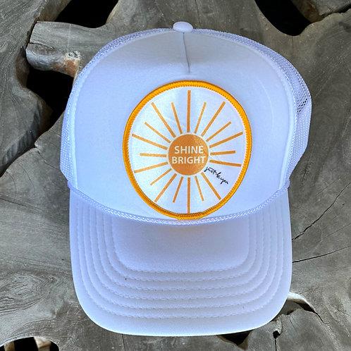 Shine Bright Hat: White