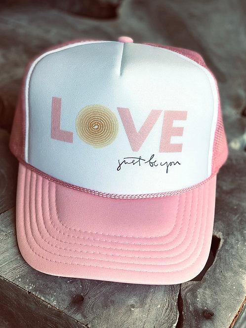 LOVE Hat: Pink