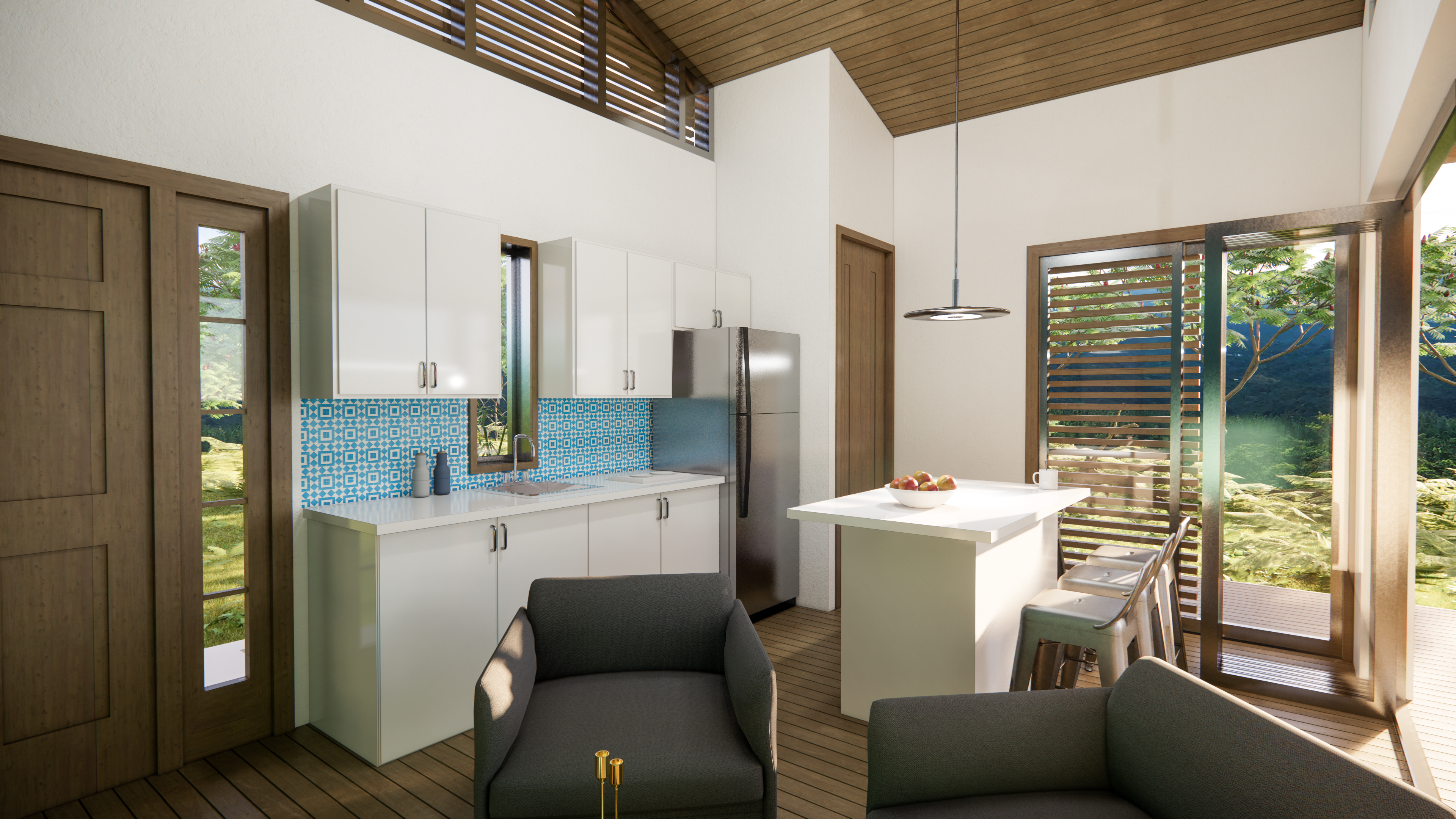 Rendering :: Interior View of TES A Living Area