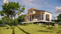 Rendering :: Exterior Perspective TES A