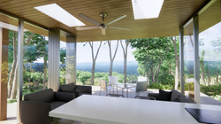 Rendering :: Interior View of TES B Living Area Open to Exterior