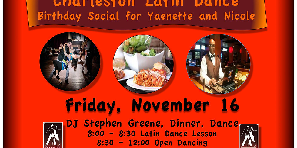 Charleston Latin Dance - Birthday Dinner/Dance Social