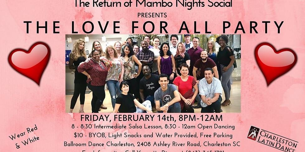 Return of Mambo Nights  -  Red & White Love Theme - Latin Dance Night