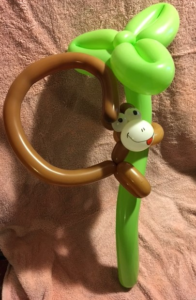 Monkey on a Tree Balloon