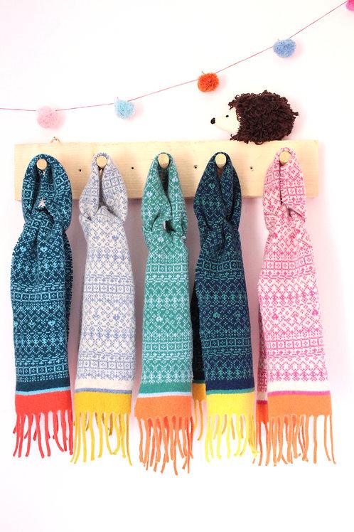 Kids Soft Knitted Tassel Scarf