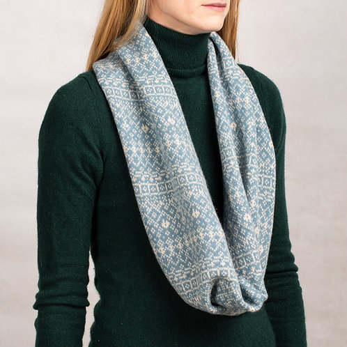 Unisex Long Fair Isle Snood