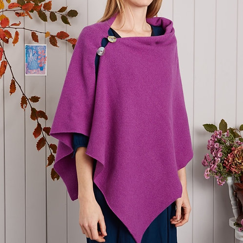 Two Button Wrap Poncho