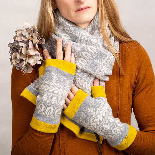 Seed To Tree Collection | Fingerless Mittens With Thumbs