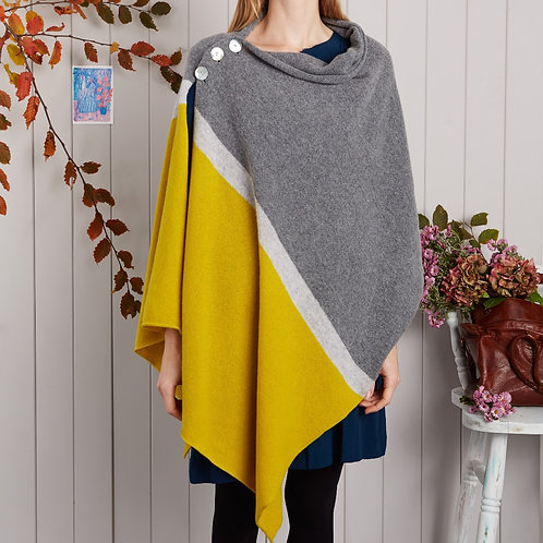 Grey & Yellow Block Stripe Wrap