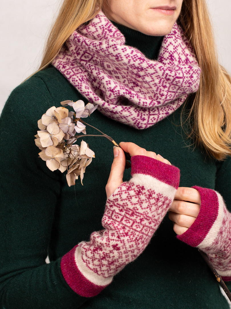 Fair Isle Snood & Mittens