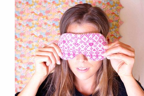 Sleep Mask Knitted and Liberty Print