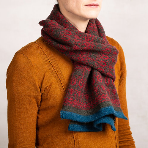 Seed To Tree Collection Unisex Stripe Trim Scarf