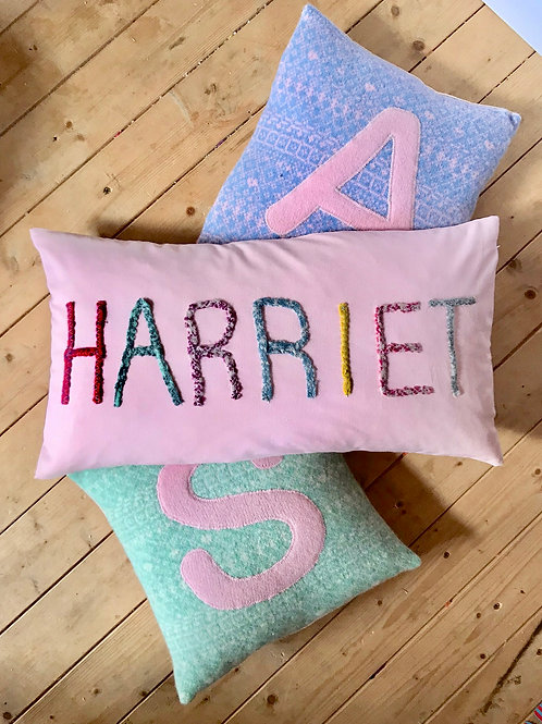 Embroidered Name Cushion