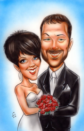 Airbrush Painted Caricature