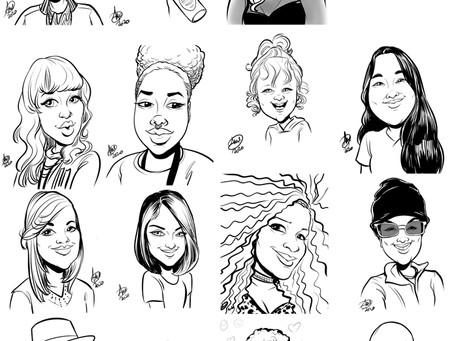Recent Digital Caricatures