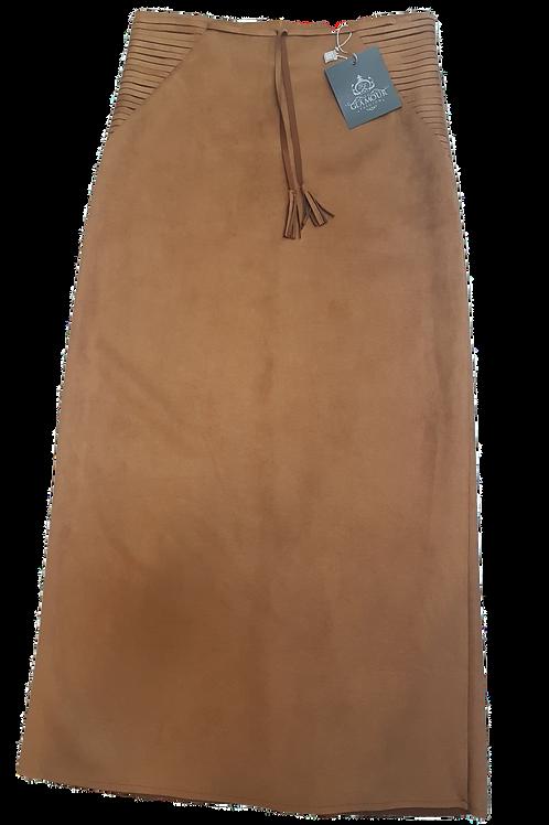 Lang nederdel karamel