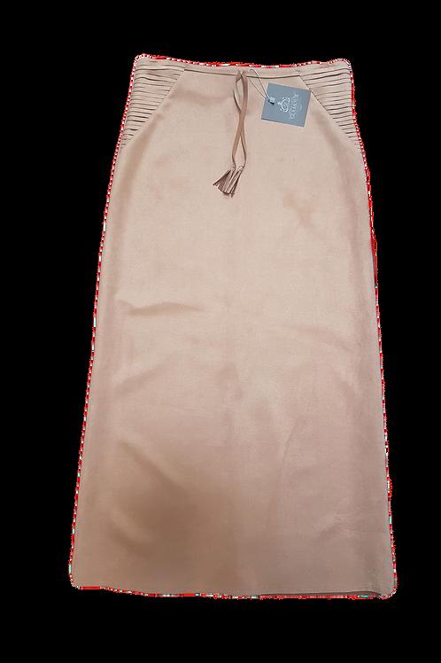 Lang nederdel beige