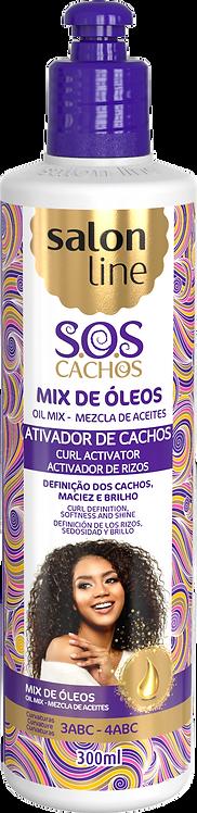 SOS ATIVADOR CACHOS MIX OLEOS NUTRITIVO 300ML