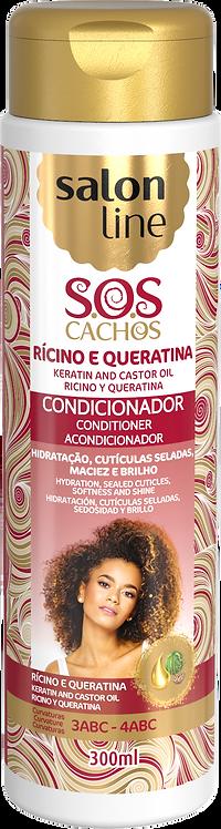 SOS CONDICIONADOR RICINO E QUERATINA 300ML