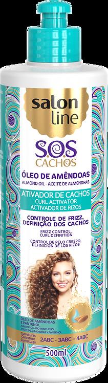 SOS ATIVADOR OLEO AMENDOAS CACHOS LEVES 500ML
