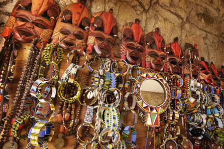Colourful handmade souveniers