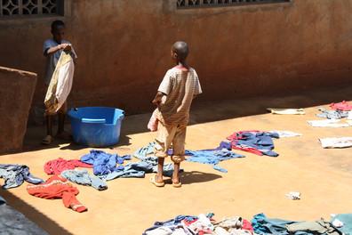 Laundry day at Shalom Orphanage