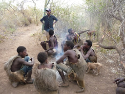 Hunters of a local tribe