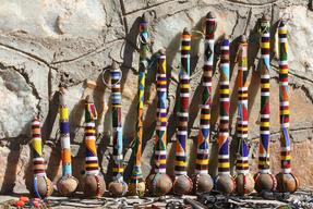 Handmade traditional Tanzanian souvenirs