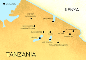 Safari Tour Map  | All Around Tanzania Safaris