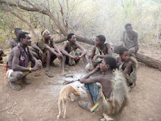 Group of male tribesmen