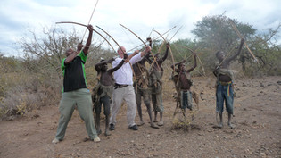 Practice hunting with local Tanzanian tribes