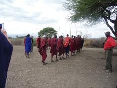 Maasi hunting party