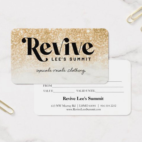 Revive Gift Card