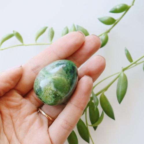 Nephrite Jade Yoni Egg 30x40mm
