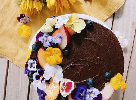 Gluten free, sugar free, dairy free chocolate cake.