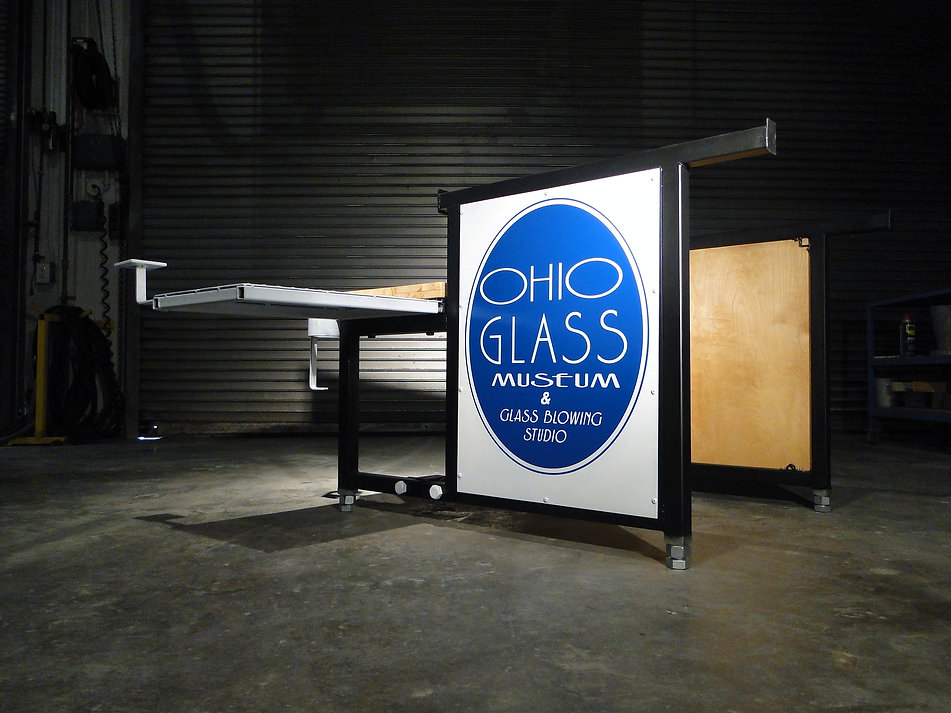 Collapsable Glass Blowing Bench