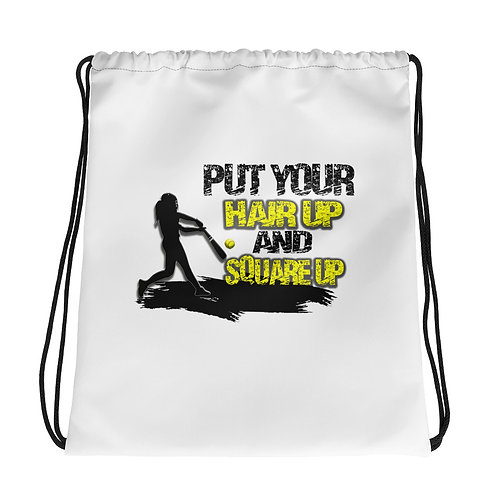 Put your hair up & Square up Drawstring bag