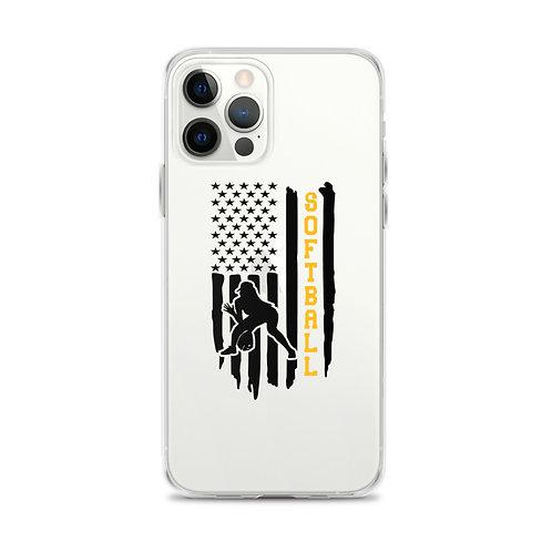 American Softball Flag iPhone Case
