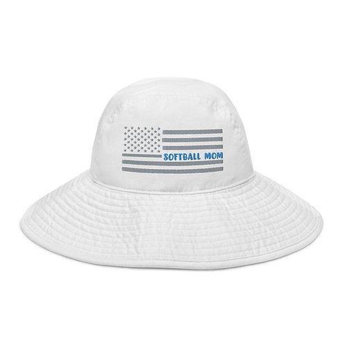 Wide brim Softball MOM bucket hat