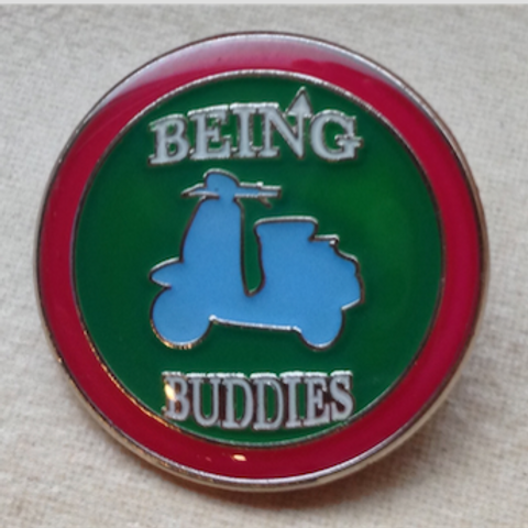 Being Buddies enamel badge - limited to only 100