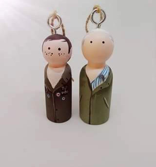 Florence and Belle/ Nikki Moulton designs a Doley and Buddy, Christmas decoration