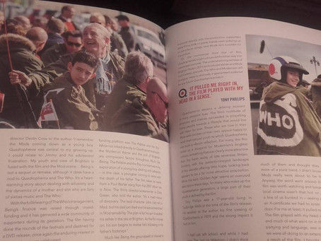 "Another sneak peek at Being pages in ""The Making of Quadrophenia"" book - by Simon Wells"