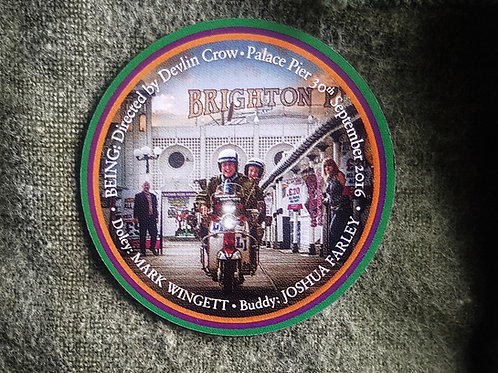 Limited Edition Being enamel plaque badge
